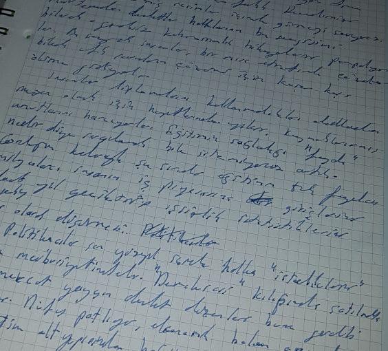 Mürekkep, Kalem ve Düşünmek Üzerine